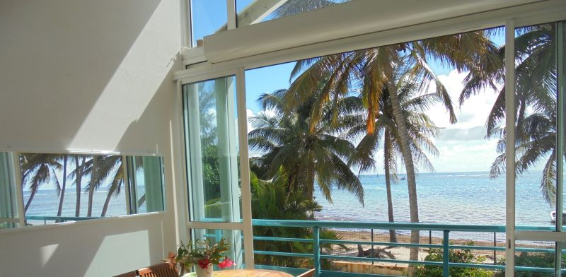 Vue de la terrasse Location Appartement 73124 Sainte Anne (Guadeloupe)