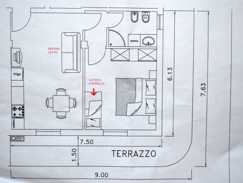 Plan de la location Location Appartement 81806 Bellaria Igea Marina