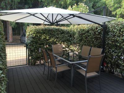 Vue de la terrasse Location Appartement 89436 Calvi