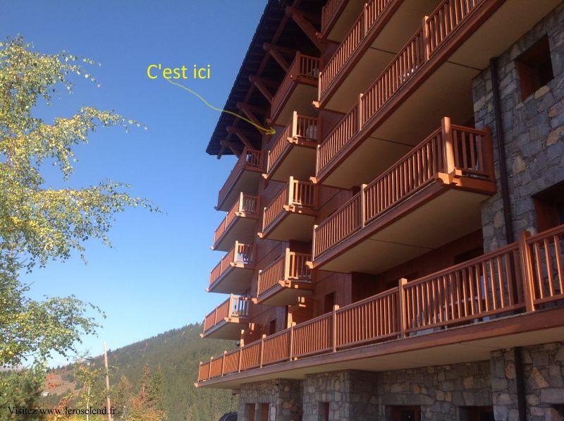 Vue extérieure de la location Location Appartement 90494 Les Arcs