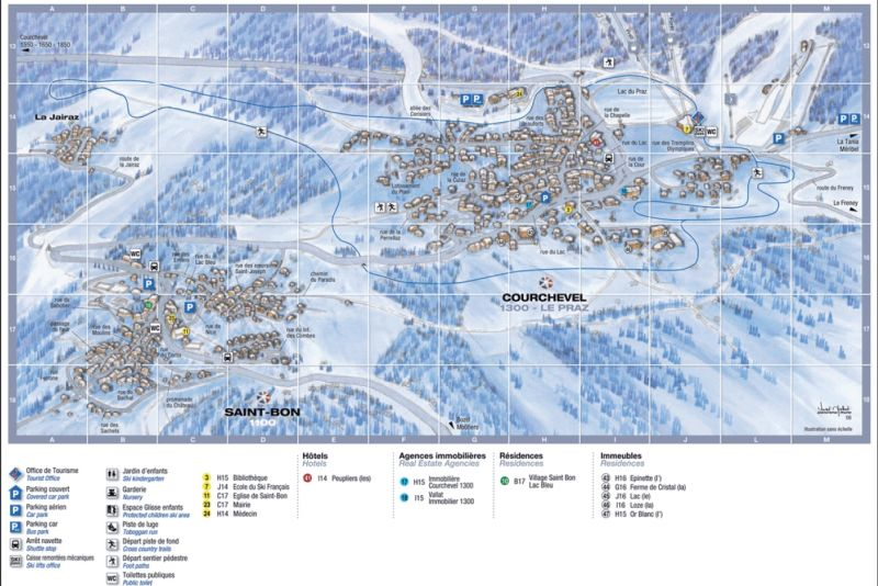 Carte Location Chalet 106839 Courchevel