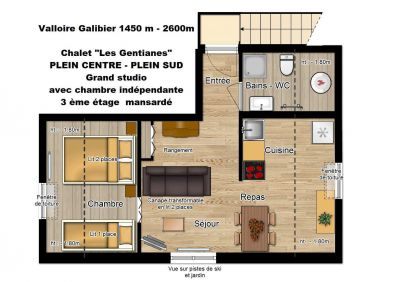 Location Studio 107127 Valloire