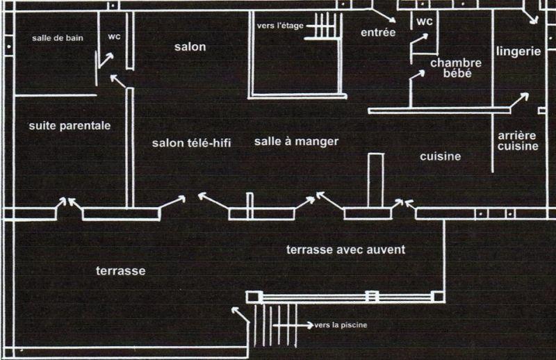 Plan de la location Location Villa 108337 Fayence