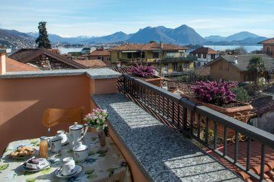 Vue de la terrasse Location Appartement 112766 Baveno