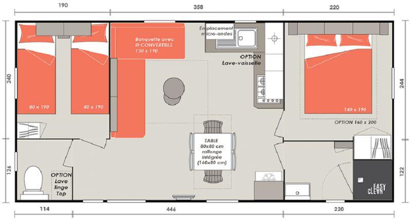 Plan de la location Location Mobil-home 117293 Blois