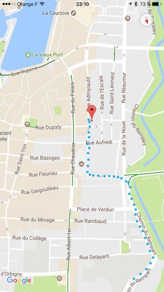 Plan de la location Location Studio 86329 La Rochelle
