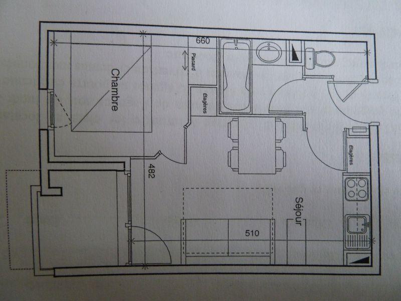 Plan de la location Location Appartement 92381 Orcières Merlette