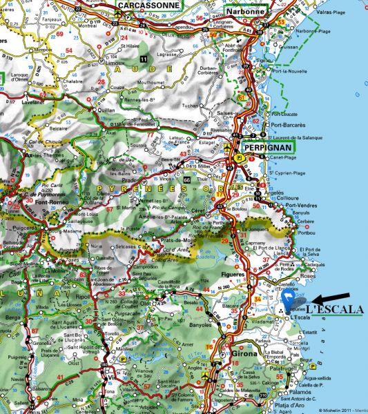 Carte Location Villa 96172 L'escala