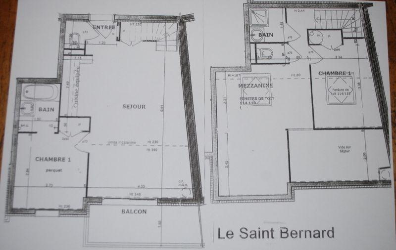 Plan de la location Location Appartement 101056 Les Arcs