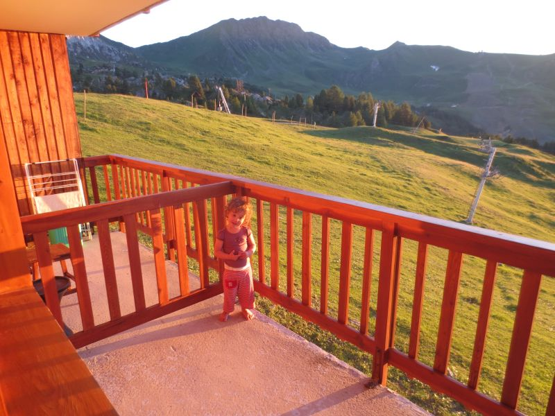Vue du balcon Location Studio 101645 La Plagne