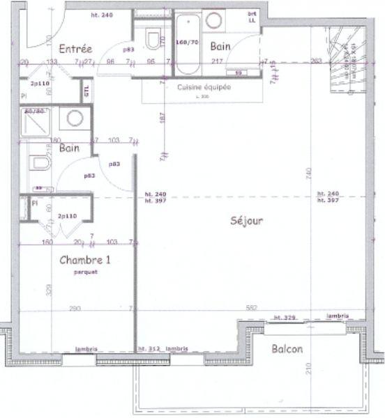 Plan de la location Location Appartement 106746 Les Arcs