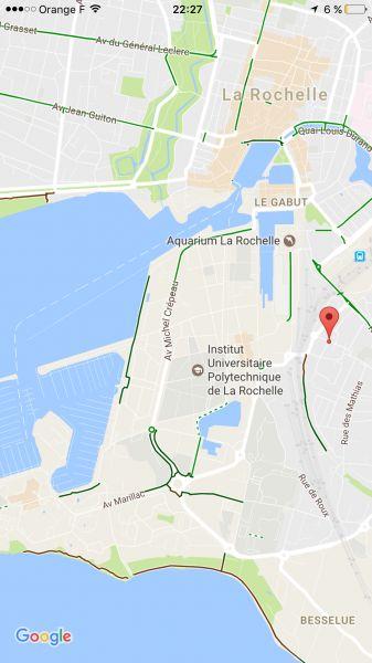 Plan de la location Location Studio 108987 La Rochelle