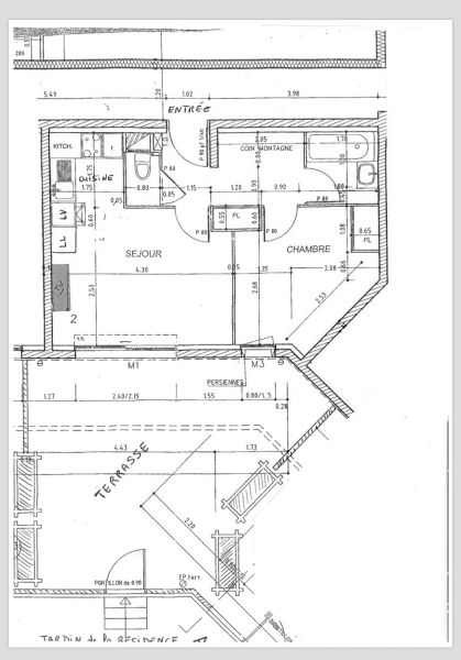 Plan de la location Location Appartement 109101 Serre Chevalier