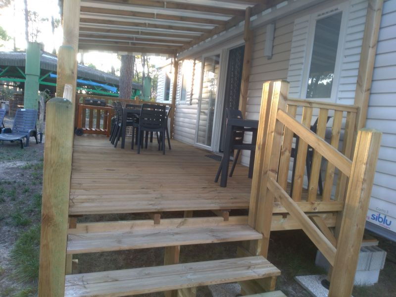 Terrasse Location Mobil-home 117730 Saint-Julien-en-Born