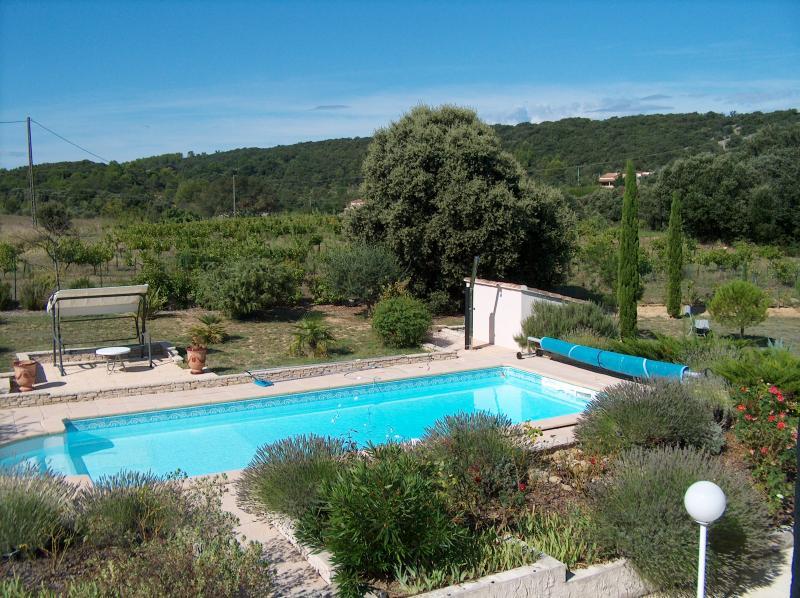 Vue du balcon Location Villa 83534 Anduze