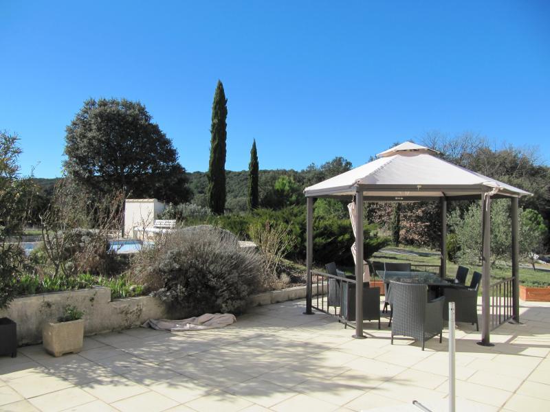 Vue de la terrasse Location Villa 83534 Anduze