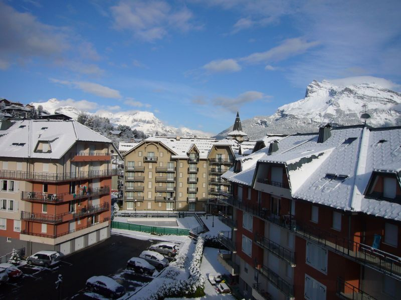 Vue de la terrasse Location Appartement 90917 Saint Gervais Mont-Blanc