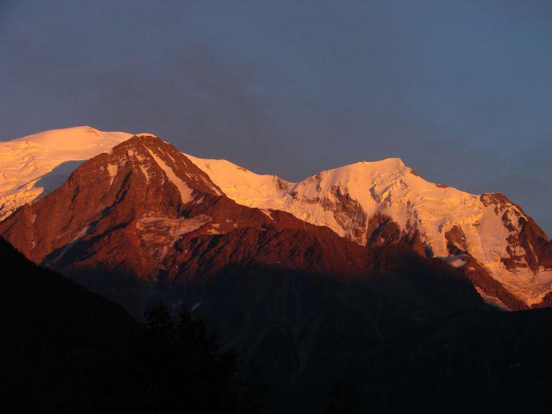 Vue du balcon Location Studio 93266 Chamonix Mont-Blanc
