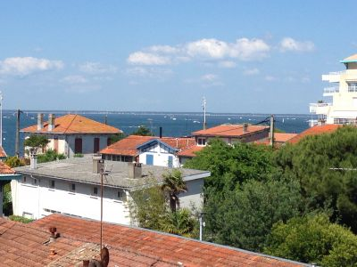 Vue de la terrasse Location Appartement 105537 Arcachon