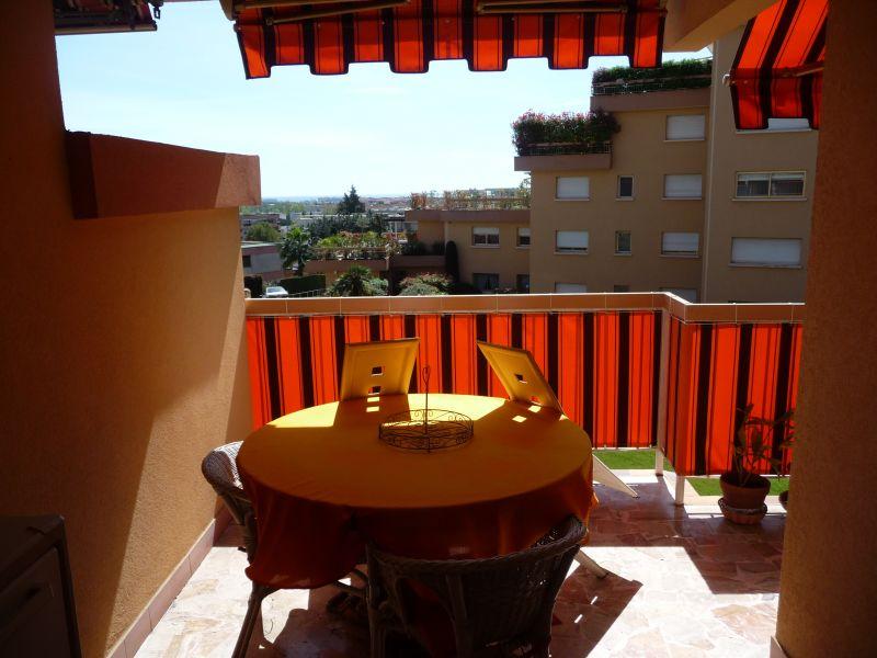 Vue de la terrasse Location Appartement 107349 Mandelieu la Napoule