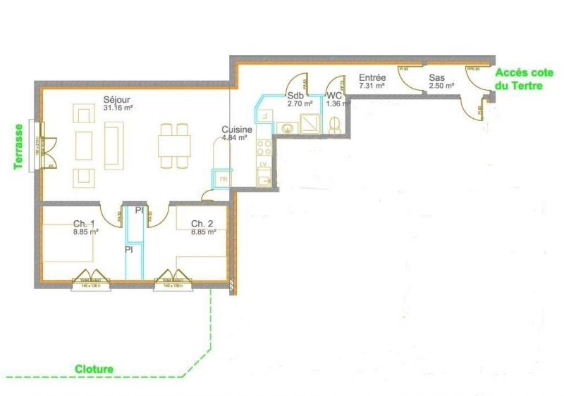 Plan de la location Location Gite 114170 Dinard