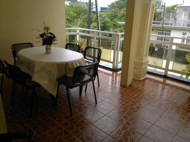 Vue de la terrasse Location Villa 76883 Grand Baie