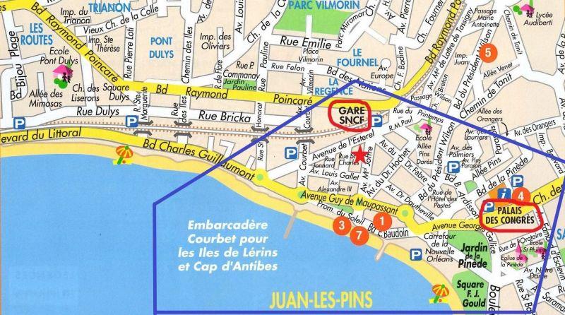 Plan de la location Location Appartement 78148 Juan les Pins