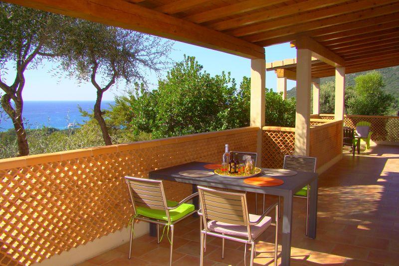 Vue de la terrasse Location Villa 79457 Propriano