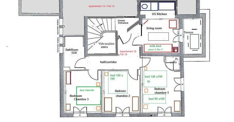 Plan de la location Location Appartement 82036 Nice