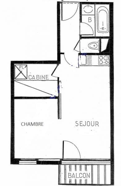 Plan de la location Location Appartement 84688 Les Menuires