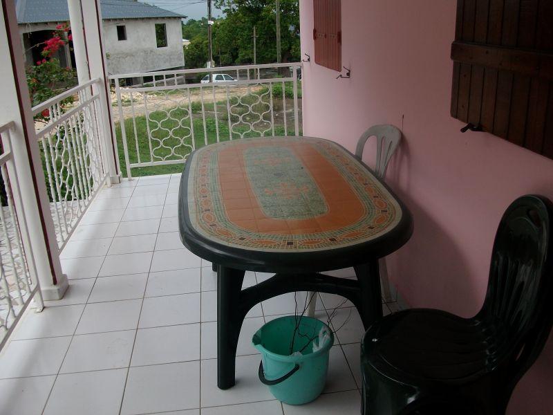 Vue de la terrasse Location Appartement 86596 Sainte Anne (Guadeloupe)