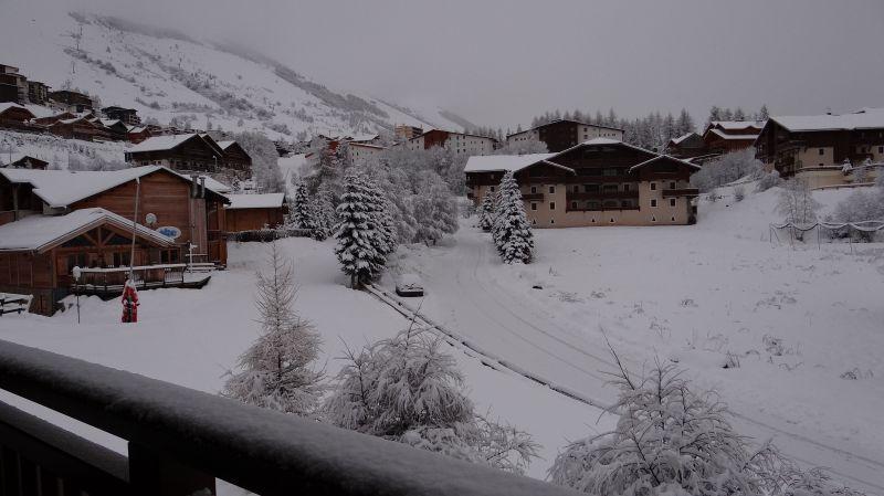 Vue du balcon Location Appartement 93391 Les 2 Alpes
