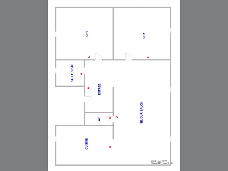 Plan de la location Location Appartement 98323 Cabourg