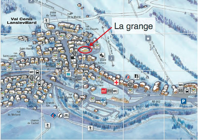 Carte Location Appartement 109926 Val Cenis