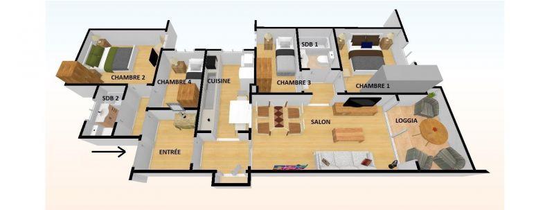Plan de la location Location Appartement 114911 Barcelone