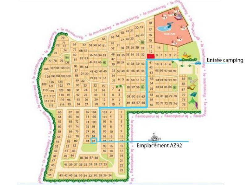 Plan de la location Location Mobil-home 116061 Fréjus