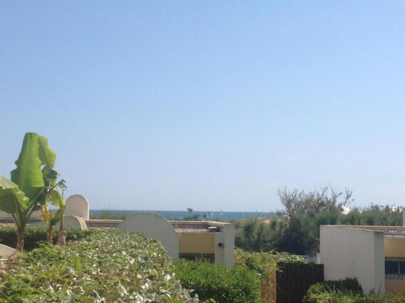 Vue de la terrasse Location Studio 67260 La Grande Motte