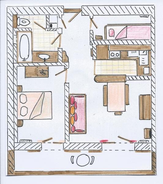 Plan de la location Location Appartement 76154 Le Grand Bornand