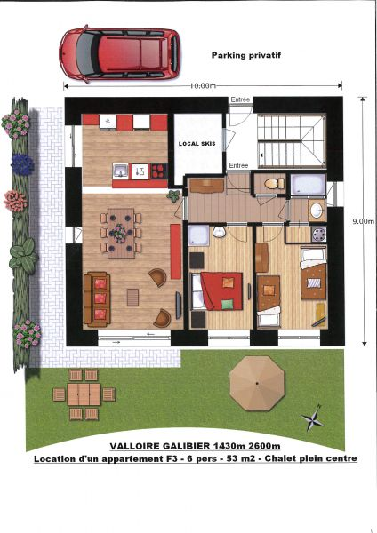 Plan de la location Location Appartement 88191 Valloire