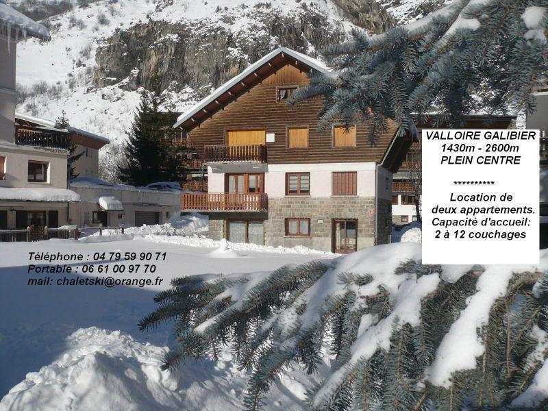 Vue extérieure de la location Location Appartement 88191 Valloire