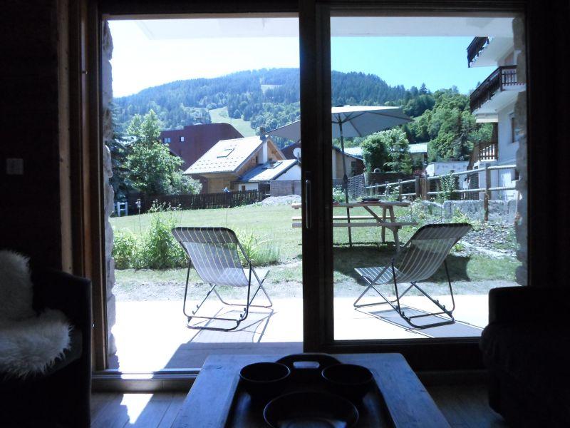 Vue de la terrasse Location Appartement 88191 Valloire