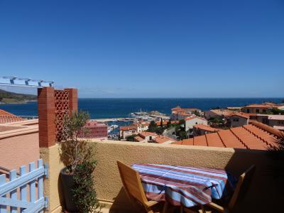 Vue de la terrasse Location Appartement 94634 Banyuls-sur-Mer
