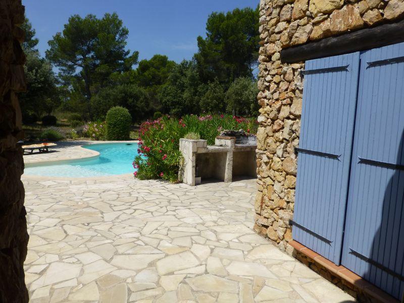 Vue de la terrasse Location Villa 95613 Cotignac