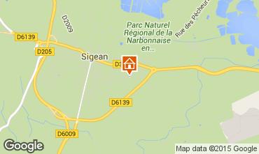 Carte Sigean Villa 10522
