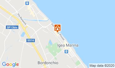 Carte Bellaria Igea Marina Appartement 103776