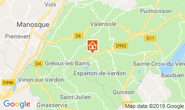 Carte Gréoux Les Bains Gite 111014