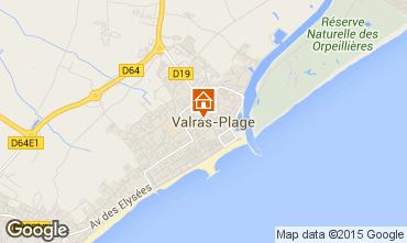 Carte Valras-Plage Appartement 41098