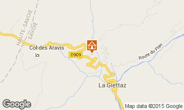 Carte La Giettaz en Aravis Appartement 68773