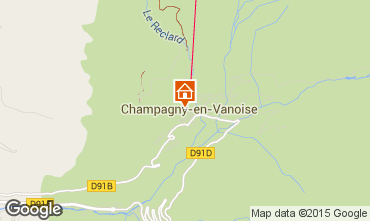 Carte Champagny en Vanoise Appartement 69456