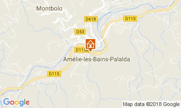 Carte Amélie-Les-Bains Appartement 96364
